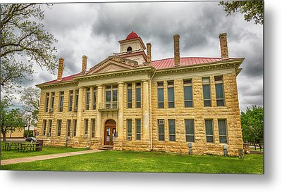 Blanco County Tx Courthouse  Metal Print by Stephen Stookey