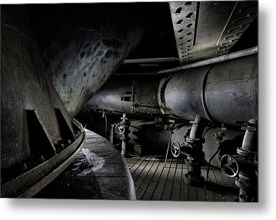 Metal Print featuring the photograph Blast Furnace Piping by Dirk Ercken