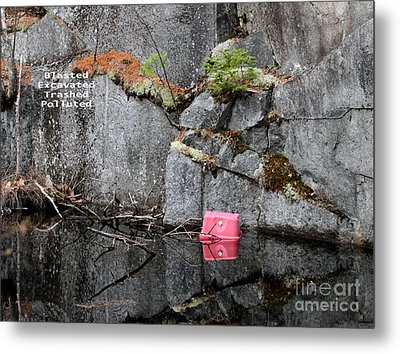 Blasted And Trashed Metal Print by Debbie Stahre