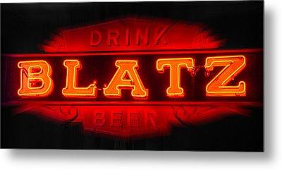 Blatz Beer  Metal Print by Susan  McMenamin