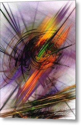Blazing Abstract Art Metal Print