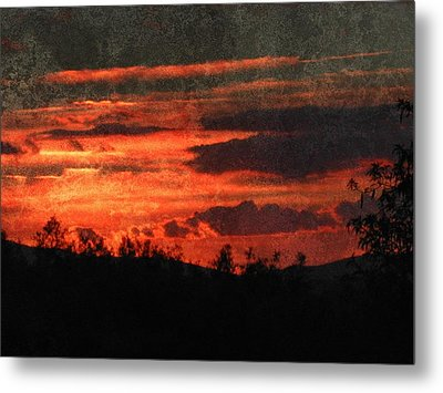 Blazing Sunset Metal Print by Dorothy Berry-Lound