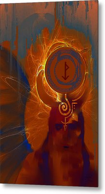 Blazzing Wisdom Through Odins Essence Metal Print by Stephen Lucas