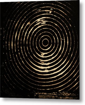 Bleached Circles Metal Print by Cynthia Powell