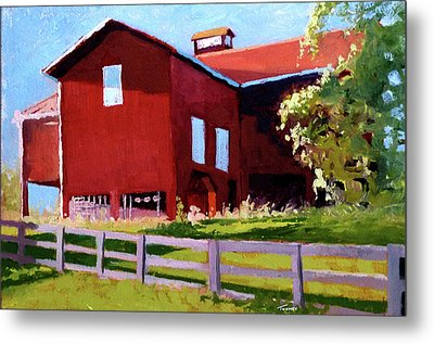 Bleak House Barn No. 3 Metal Print by Catherine Twomey