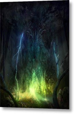 Bleak Swamp Metal Print