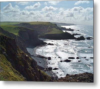 Blegberry Cliffs From Damehole Point Metal Print