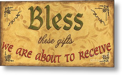 Bless These Gifts Metal Print