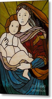 Blessed Art Thou Among Women-mary Metal Print by David Gomm