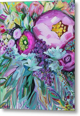 Blessings Come From Raindrops Metal Print by Kristin Whitney