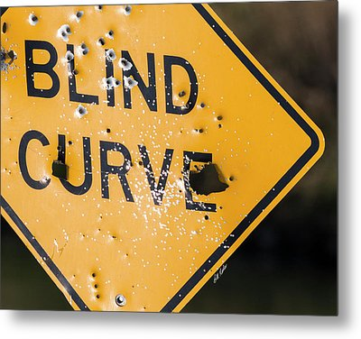 Metal Print featuring the photograph Blind Curve by Bill Kesler