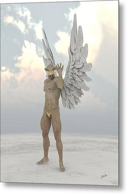 Blind Fiscal Angel Metal Print by Joaquin Abella