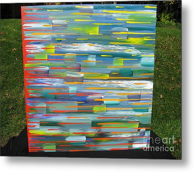 Metal Print featuring the painting Blindsided by Jacqueline Athmann