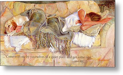 Bliss With Bible Verse Metal Print by Susan Hensel