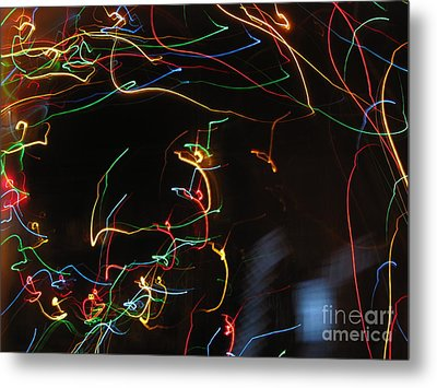Metal Print featuring the photograph Blizzard Of Colorful Lights. Dancing Lights Series by Ausra Huntington nee Paulauskaite