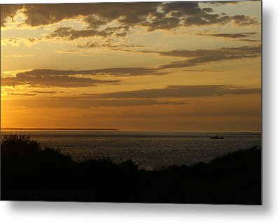 Block Island From Montauk Point Metal Print by Christopher Kirby