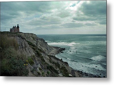Block Island South East Lighthouse Metal Print by Skip Willits