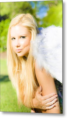Blonde Angel Metal Print by Jorgo Photography - Wall Art Gallery