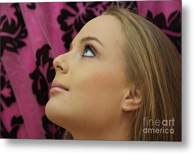 Blonde Beauty And Youth Metal Print