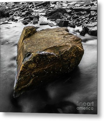 Blonde Rock Metal Print