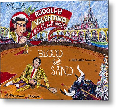 Blood And Sand - 1922 Lobby Card That Never Was Metal Print