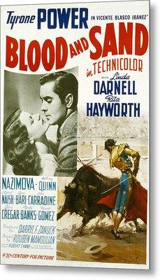 Blood And Sand, Rita Hayworth, Tyrone Metal Print