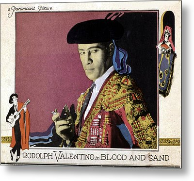 Blood And Sand, Rudolph Valentino, 1922 Metal Print