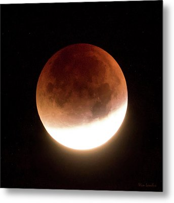 Blood Moon Eclipse Metal Print by Wim Lanclus