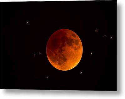 Blood Moon Lunar Eclipse 2015 Metal Print