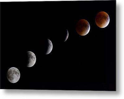 Blood Moon Lunar Eclipse Metal Print
