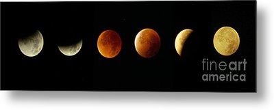 Blood Moon Phases Metal Print by Rudi Prott
