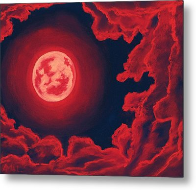 Blood Moon - Sky And Clouds Collection Metal Print