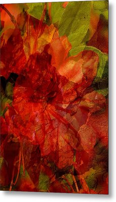Metal Print featuring the digital art Blood Rose by Tom Romeo