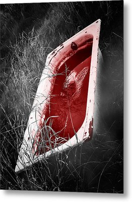 Bloody Bathtub Metal Print