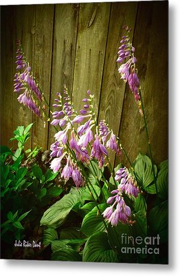 Blooming Hostas Metal Print