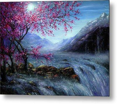 Blossom Falls Metal Print by Ann Marie Bone