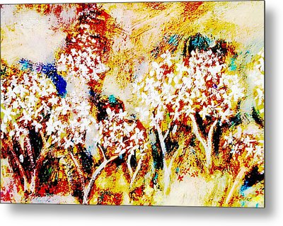 Metal Print featuring the painting Blossom Morning by Winsome Gunning