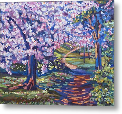 Blossom Season - Plein Air Metal Print by David Lloyd Glover