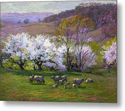 Blossom Time Metal Print by Edward Henry Potthast