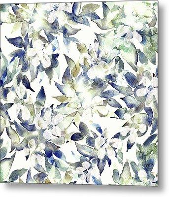 Blossom Tree Metal Print by Varpu Kronholm