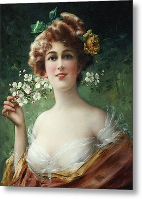 Blossoming Beauty Metal Print by Emile Vernon