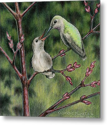 Blossoming Metal Print by Katherine Plumer