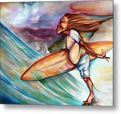 Blow In The Wind Metal Print by Robert  Nelson