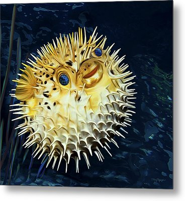 Blowfish Metal Print by Thanh Thuy Nguyen
