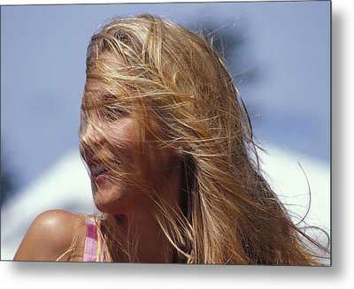 Blowing In Th Wind Metal Print by Carl Purcell