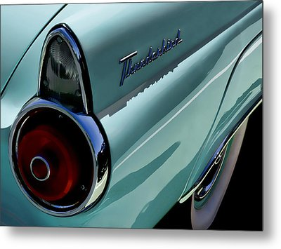 Blue 1955 T-bird Metal Print