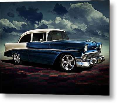 Blue '56 Metal Print by Douglas Pittman