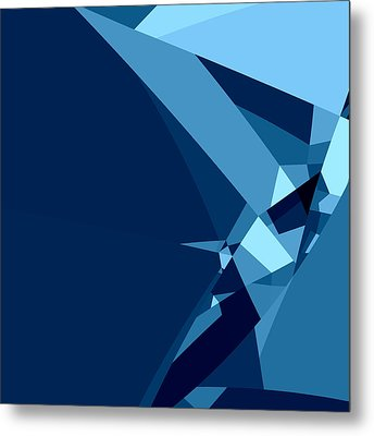 Blue Abstract 1 Metal Print by GuoJun Pan