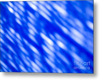 Blue Abstract 1 Metal Print by Tony Cordoza