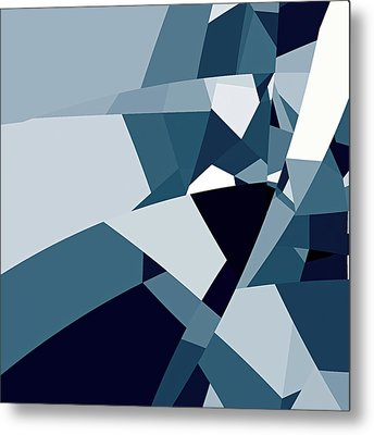 Blue Abstract 2 Metal Print by GuoJun Pan